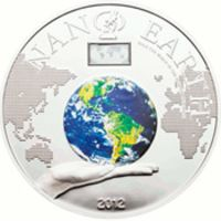 Аверс монеты «Нано-Земля»